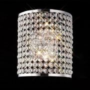 Ava Wall Light in Chrome and Crystal - DIYAS IL30199